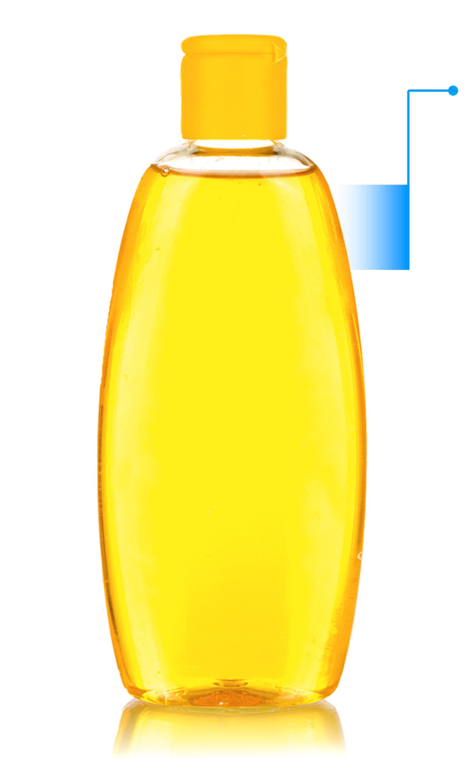 botella de producto para bebé con flecha hacia la derecha