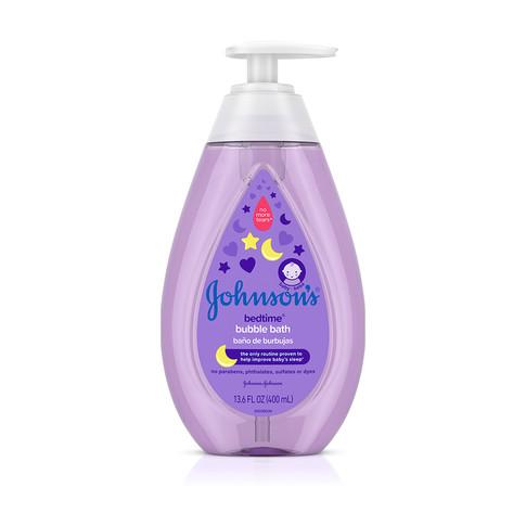 Baño de burbujas para bebé JOHNSON'S® BEDTIME®, imagen frontal