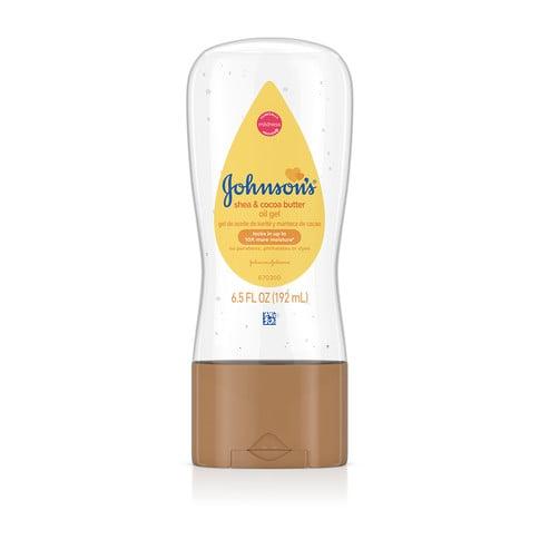 Aceite en gel JOHNSON'S® con manteca de karité y de cacao, imagen frontal