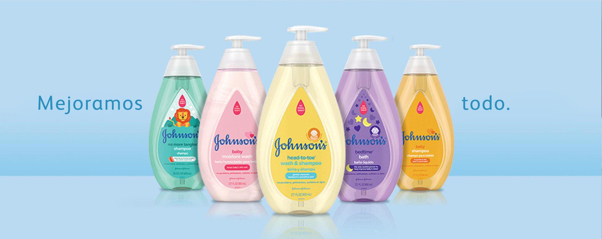 productos para bebé Johnson's® nuevos y mejorados