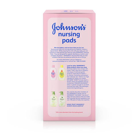 Ingredientes de los los protectores para lactancia JOHNSON'S®
