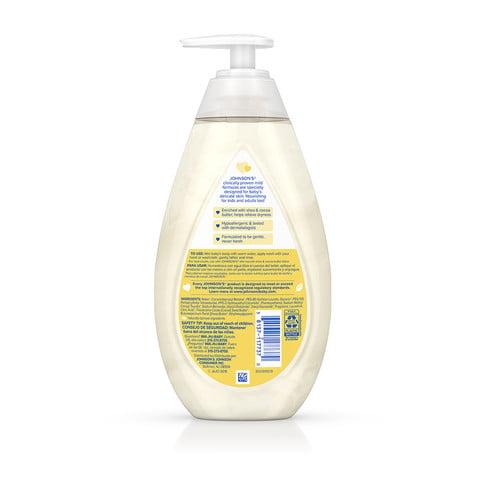 Ingredientes del jabón líquido para bebé JOHNSON'S® Skin Nourish con manteca de karité y cacao