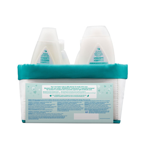 Ingredientes del set de regalo para recién nacido  JOHNSON'S® Touchably Soft