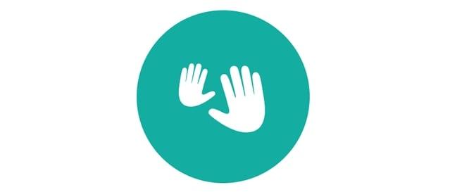 ícono de masaje con las manos para recién nacido