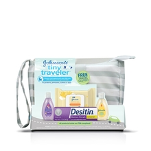 Set de regalo para bebé JOHNSON'S® Tiny Traveler, imagen frontal