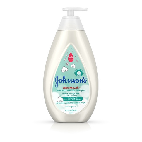 Jabón líquido y champú para recién nacido JOHNSON'S® COTTONTOUCH™, imagen frontal