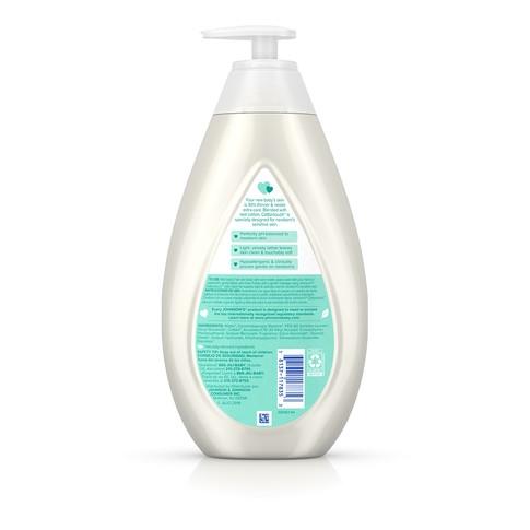 Ingredientes del jabón líquido y campú para recién nacido JOHNSON'S® COTTONTOUCH™
