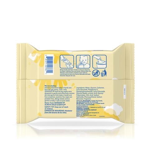 Ingredientes de las toallitas húmedas para rostro y manos para bebé JOHNSON'S®
