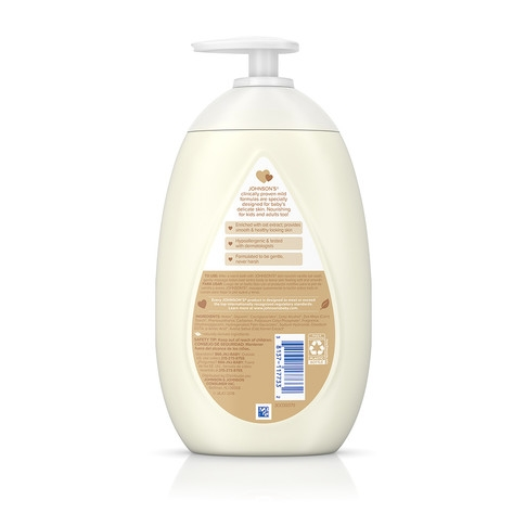 Ingredientes de la loción hidratante JOHNSON'S® de vainilla y avena para la piel del bebé
