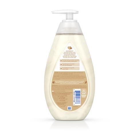 Ingredientes del jabón líquido para bebé JOHNSON'S® Skin Nourish de vainilla y avena