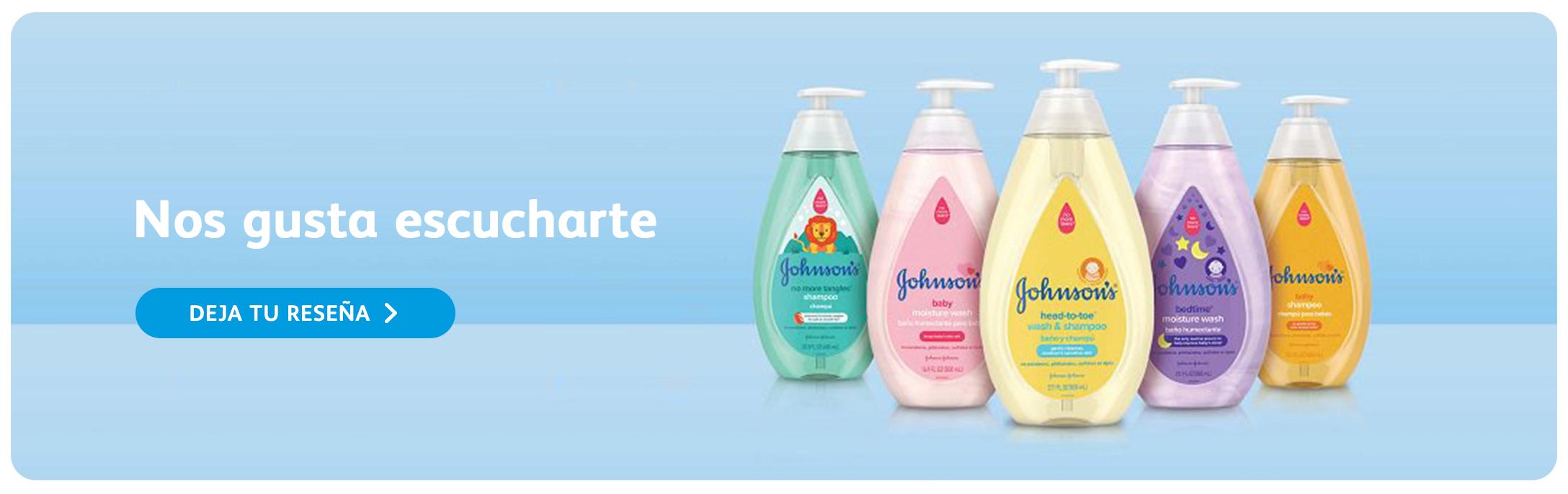 Una combinación de los champúes y jabones líquidos para bebé de Johnson's®