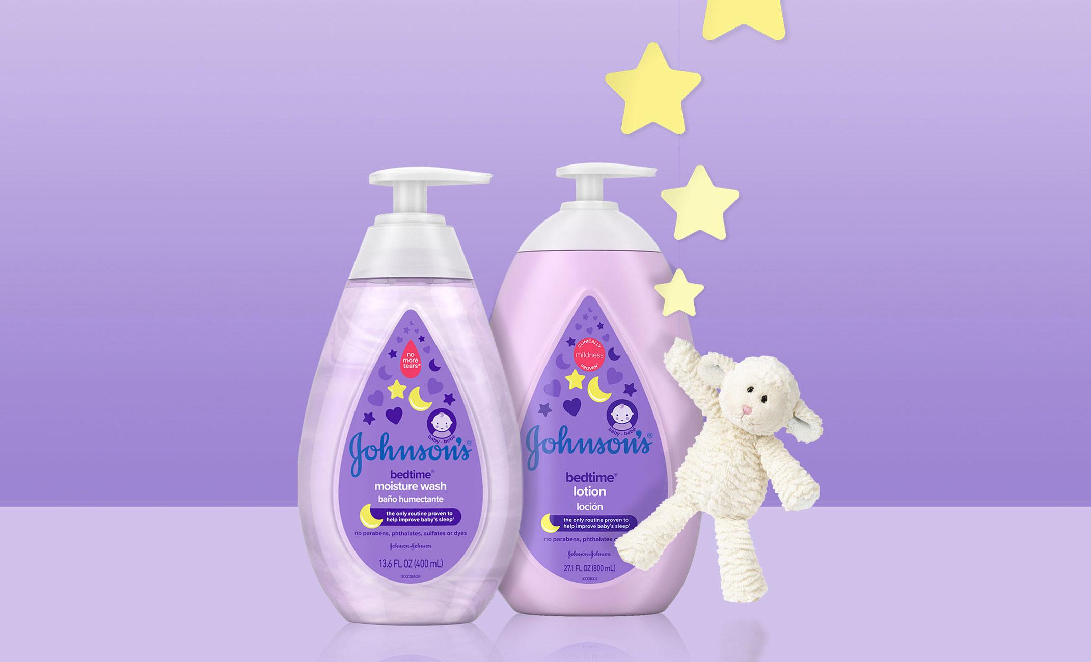 Jabón líquido humectante y loción para bebé Johnson's® Bedtime®